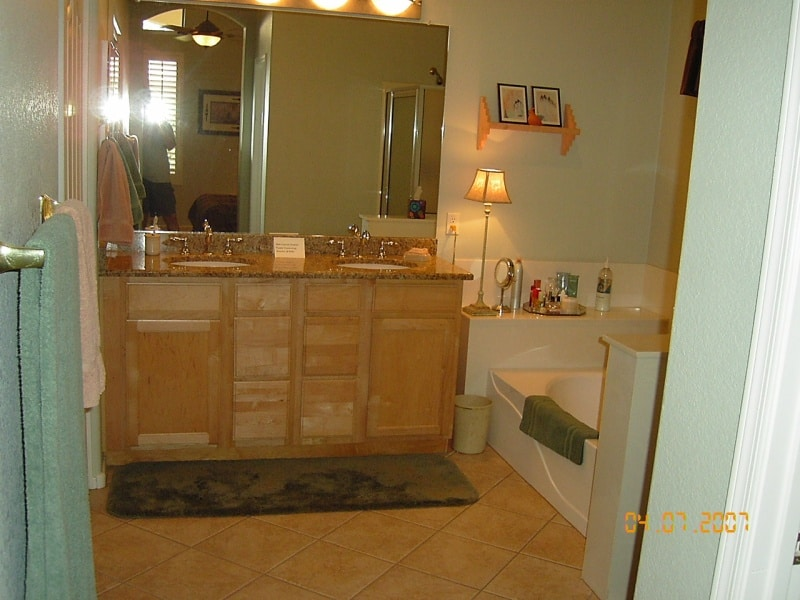 Before Master Bath Vanity