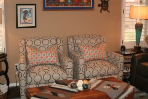 Moore Family room swivel chairs after