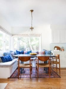 Banquette that fits a family