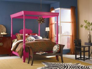 CI Sherwin Williams hot pink bed