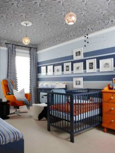 interior designers blue orange