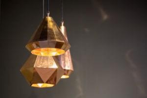 Image of bronze lampshade used in arizona home.