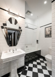 Bathroom Color Schemes Black and white