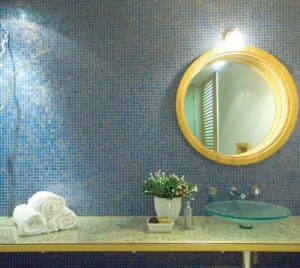 Bathroom Color Scheme Blue and yellow