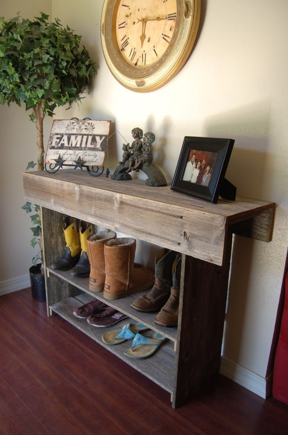Reclaimed Wood Front Entryway Table