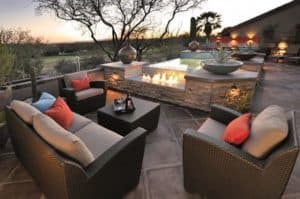 Outdoor Furniture with fireplace Sonoran Desert