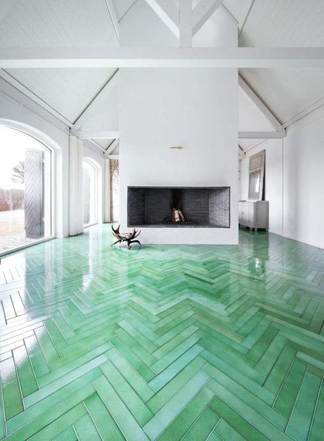 Green Wood Look Tile